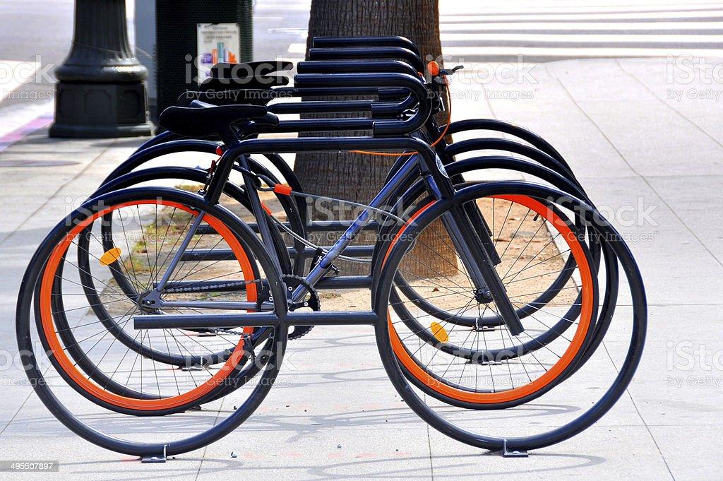 Bike racks stock photo