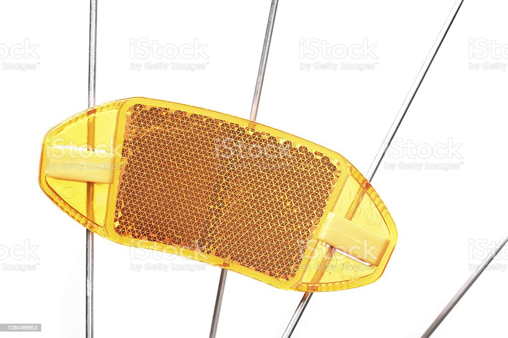 bike reflector stock photo