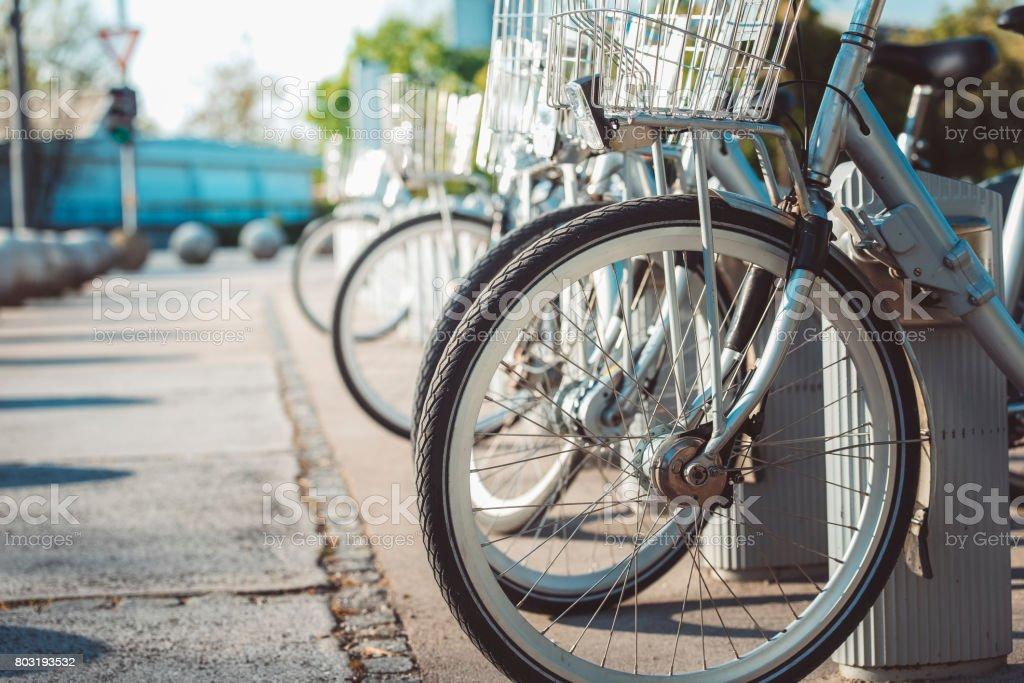 Bike Rental Station stock photo