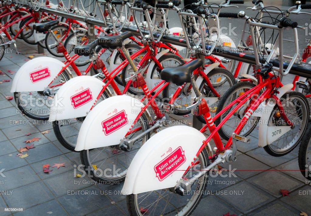 Système de location de vélos en Europe Belgique Anvers - Photo