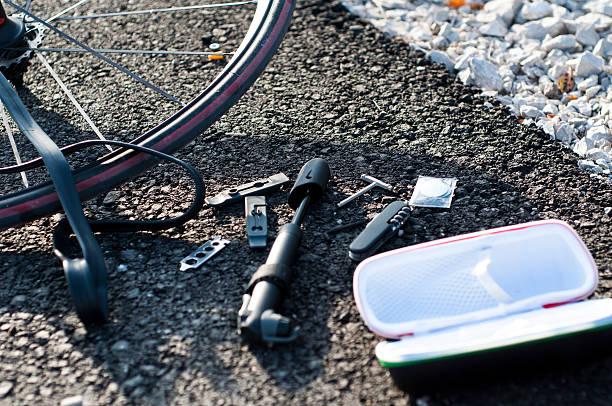 Bike repair set stock photo