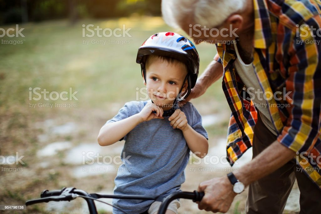 BIke ride learning stock photo