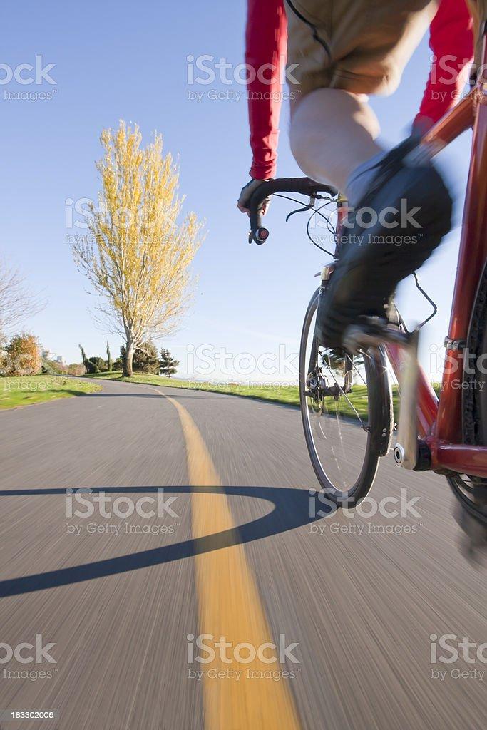 Bike Ride on a Beautiful Fall Day royalty-free stock photo