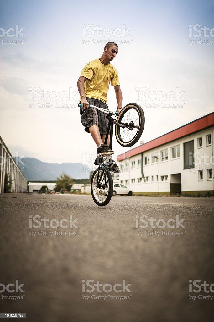 BMX Bike rider stock photo
