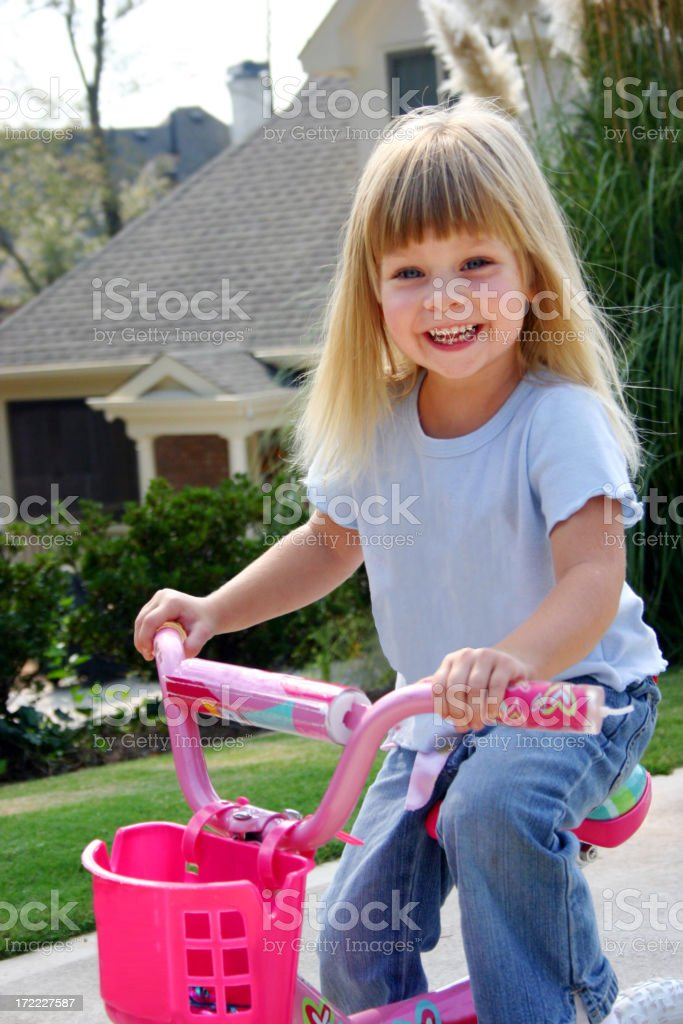 Bike Riding Girl royalty-free stock photo