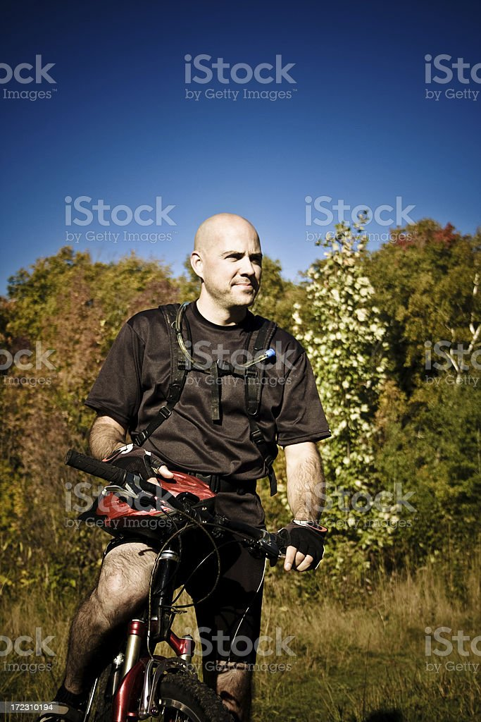 Bike riding in Canada royalty-free stock photo