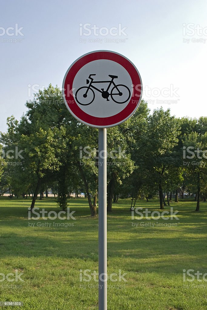 Bike road sign royalty-free stock photo