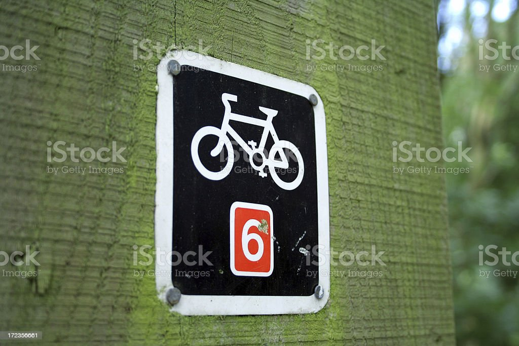 Bike Route Sign royalty-free stock photo
