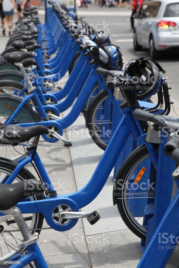 Bike sharing Melbourne Australia stock photo
