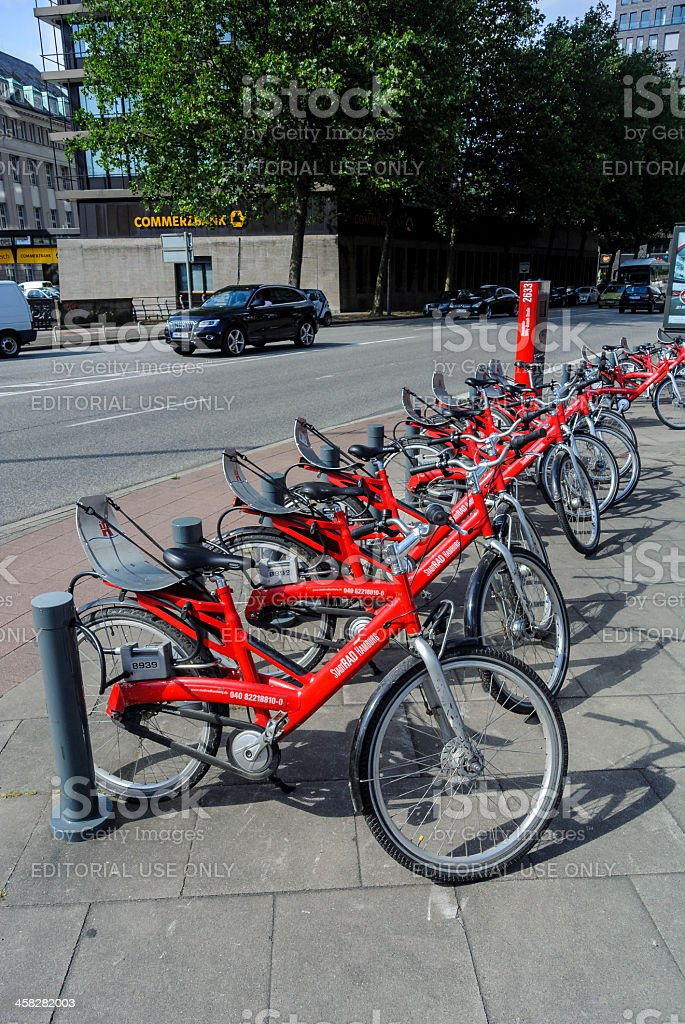 Bike sharing royalty-free stock photo