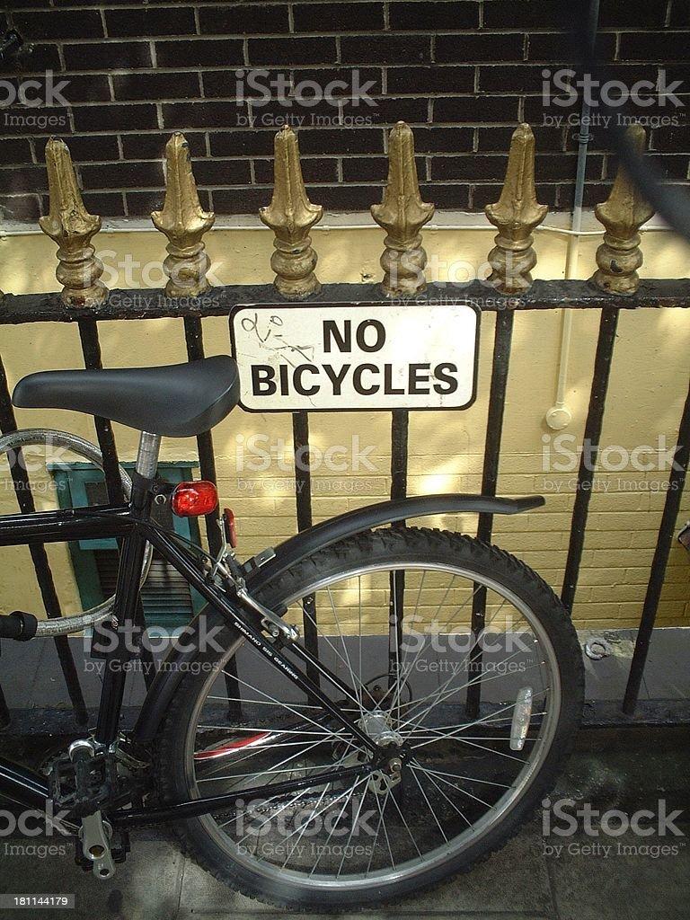 Bike Sign 2 stock photo