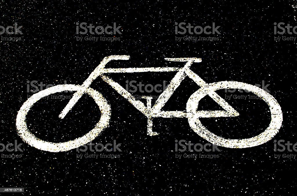 bike sign backgrounds stock photo