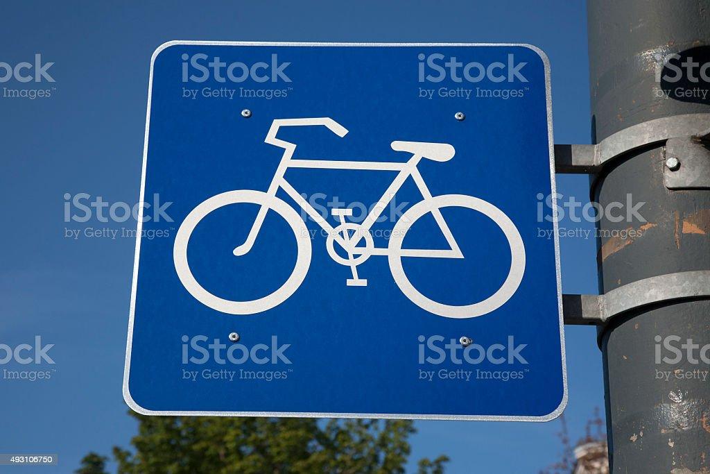 Bike Sign stock photo