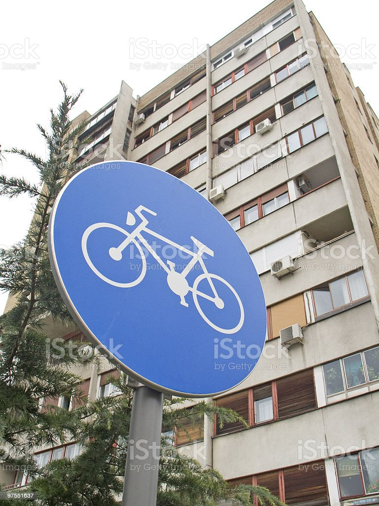 Bike sign royalty-free stock photo