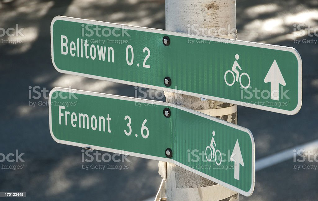 Bike Signs stock photo