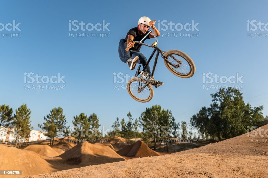 BMX Bike Stunt Table Top stock photo