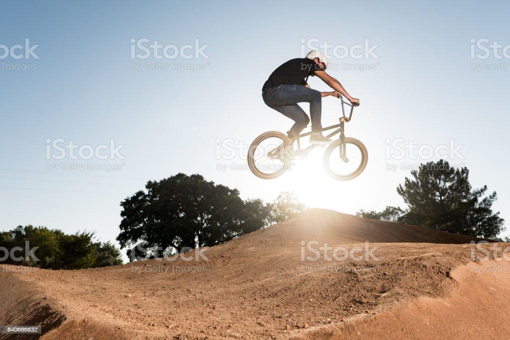 BMX Bike Stunt Table Top stock photo