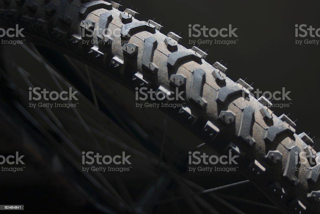 bike tire stock photo