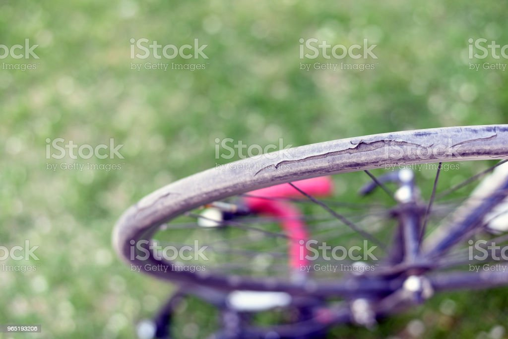 Bike tire shredded zbiór zdjęć royalty-free
