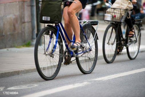 667005568istockphoto Bike to work in the city 175246994