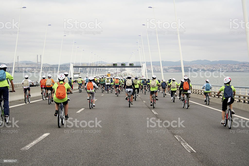bike tour royalty-free stock photo
