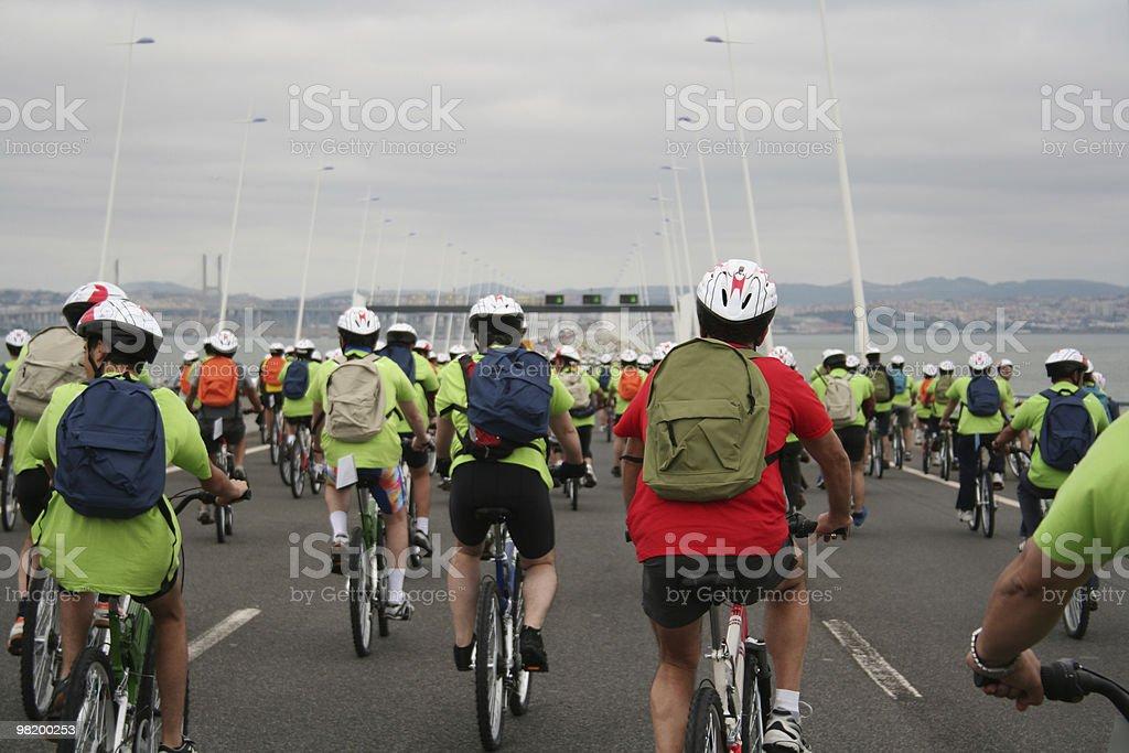 bike tour royalty-free stock photo