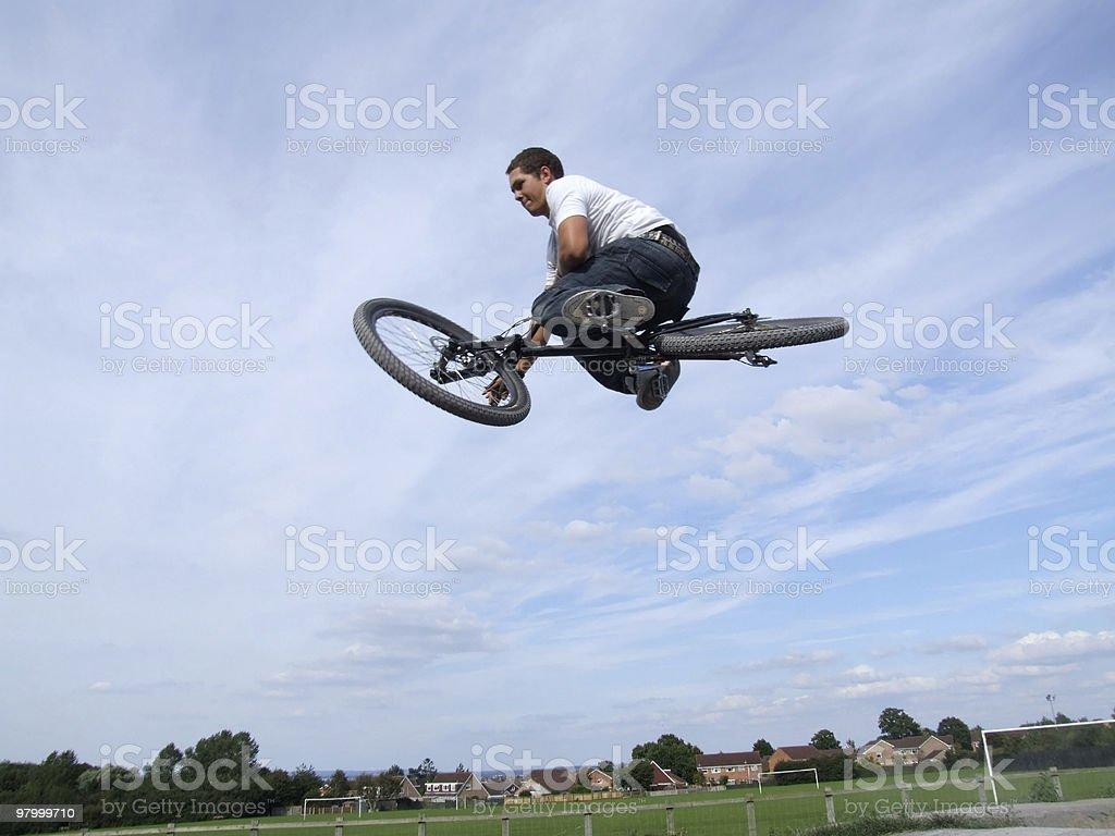 Bike trick royalty-free stock photo