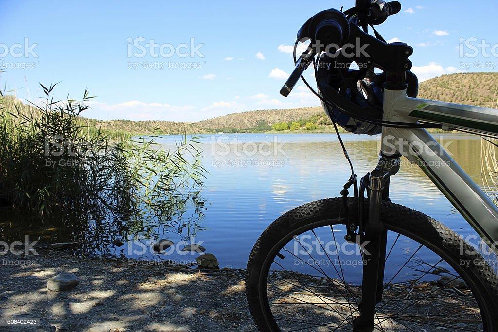 Bike trip stock photo