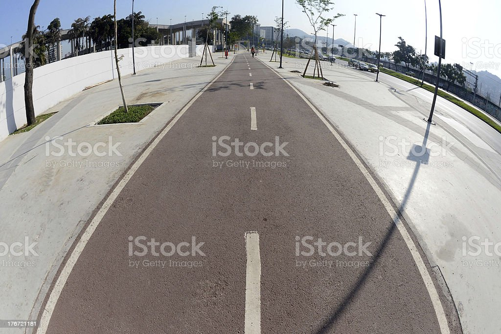 Bike Way royalty-free stock photo