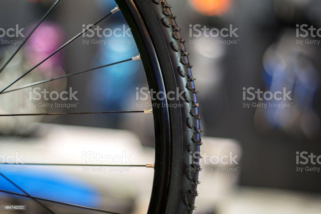 bike wheel and hub stock photo