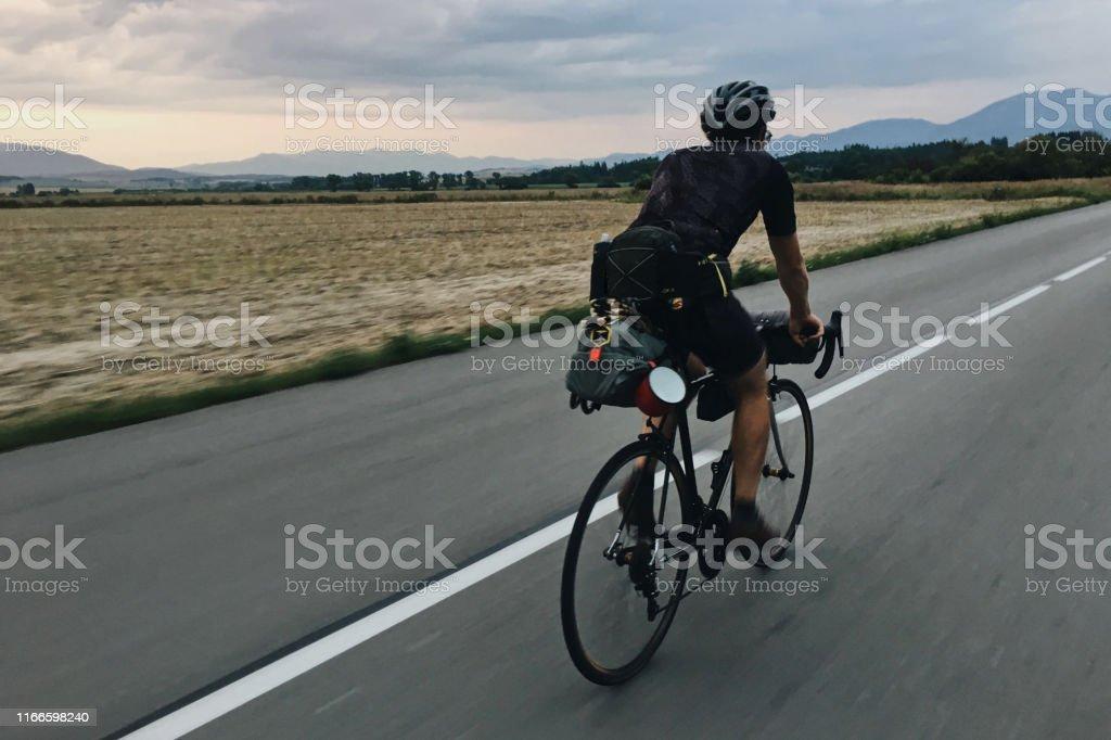 Bikepacking Bikepacking Active Lifestyle Stock Photo