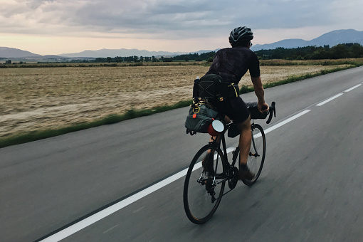 Bikepacking Stock Photo - Download Image Now