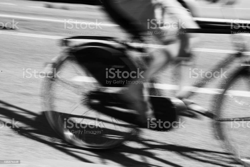 Biker at full speed in Copenhagen, Denmark. royalty-free stock photo