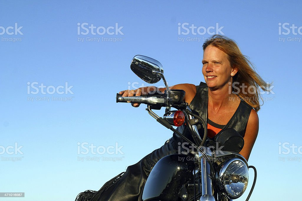 Biker Beautiful 2 stock photo