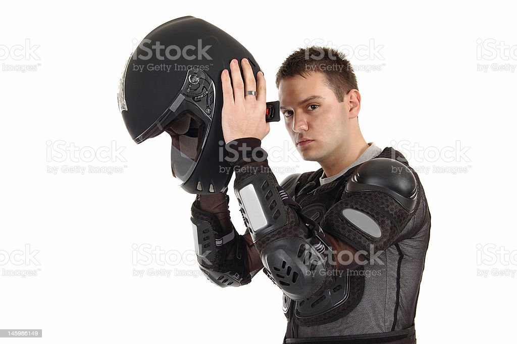 Biker boy. royalty-free stock photo