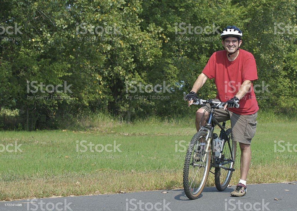 Biker Break royalty-free stock photo