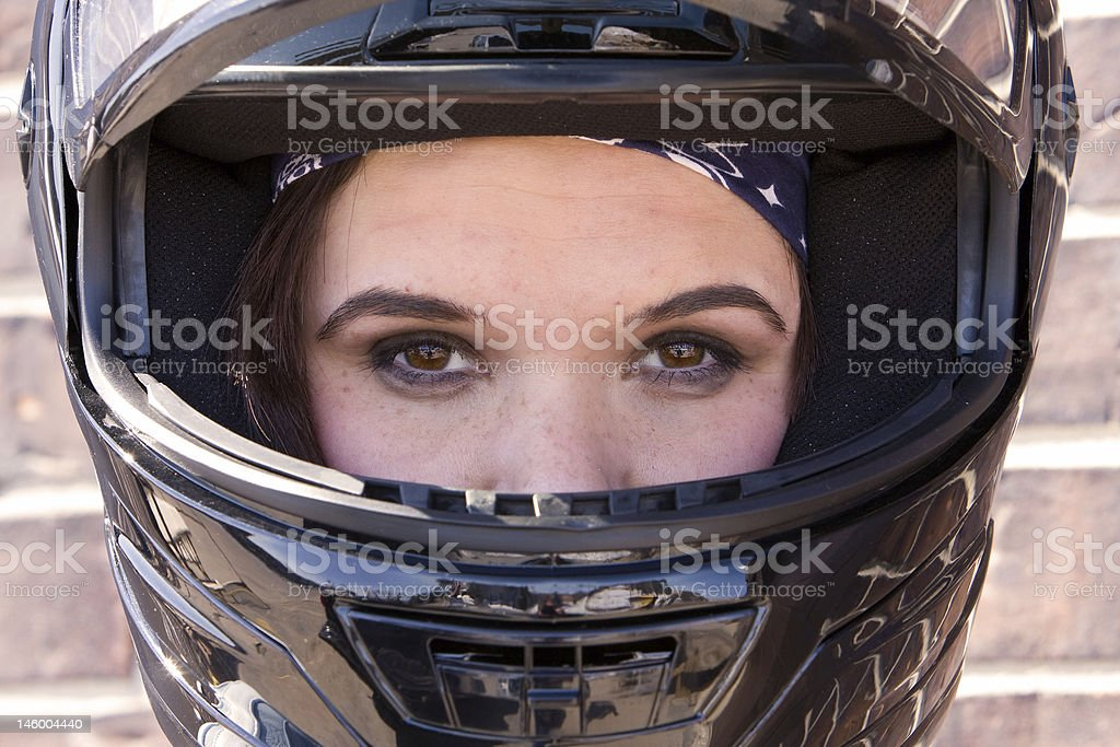 Biker Chick stock photo