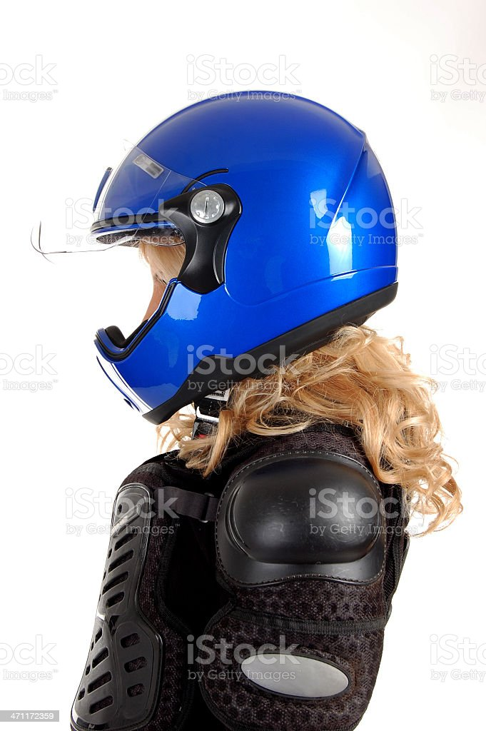 Biker girl. royalty-free stock photo
