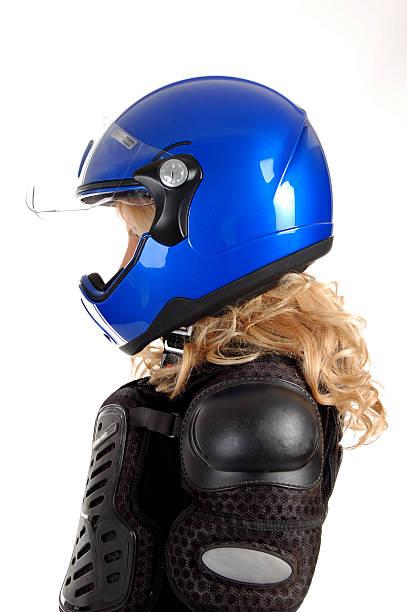Biker girl. stock photo