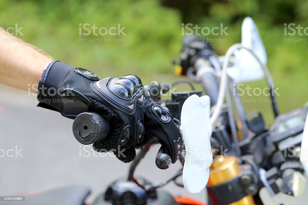 biker   handlebar stock photo