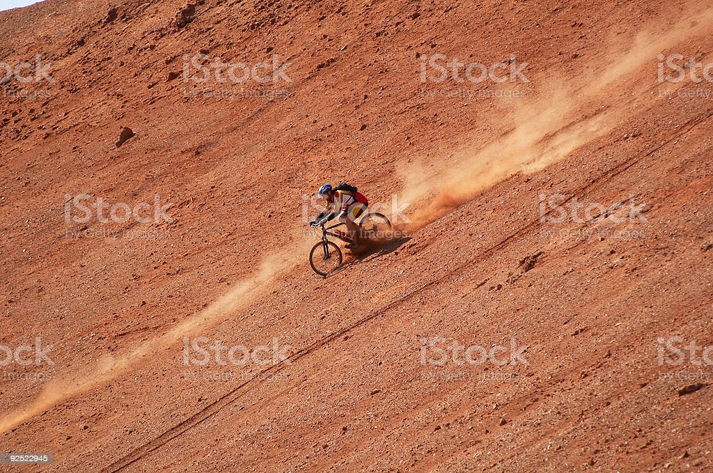 Biker high speed 2 royalty-free stock photo