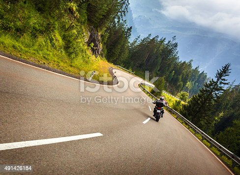 istock Biker in Austrian mountains 491426184