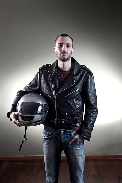Biker-Jacke aus Leder – Foto