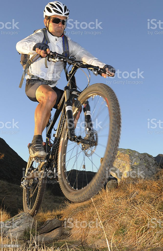 biker jump royalty-free stock photo