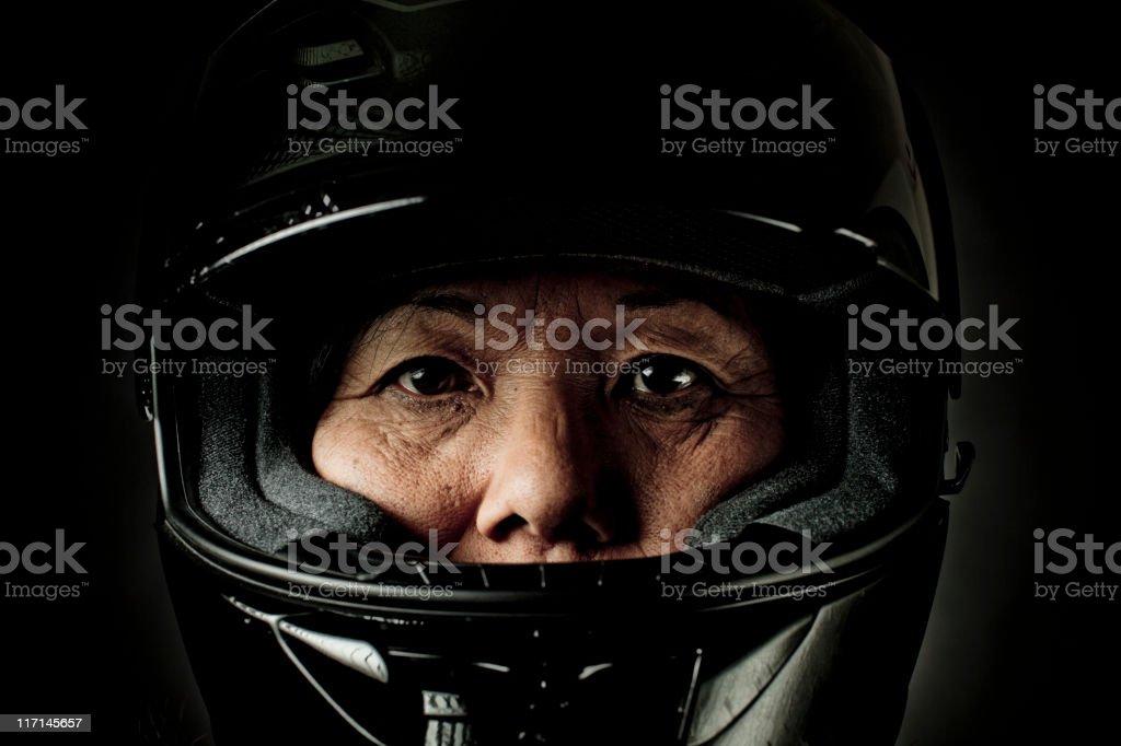 biker mama stock photo