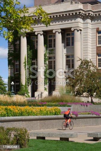 istock Biker on Campus 175600481