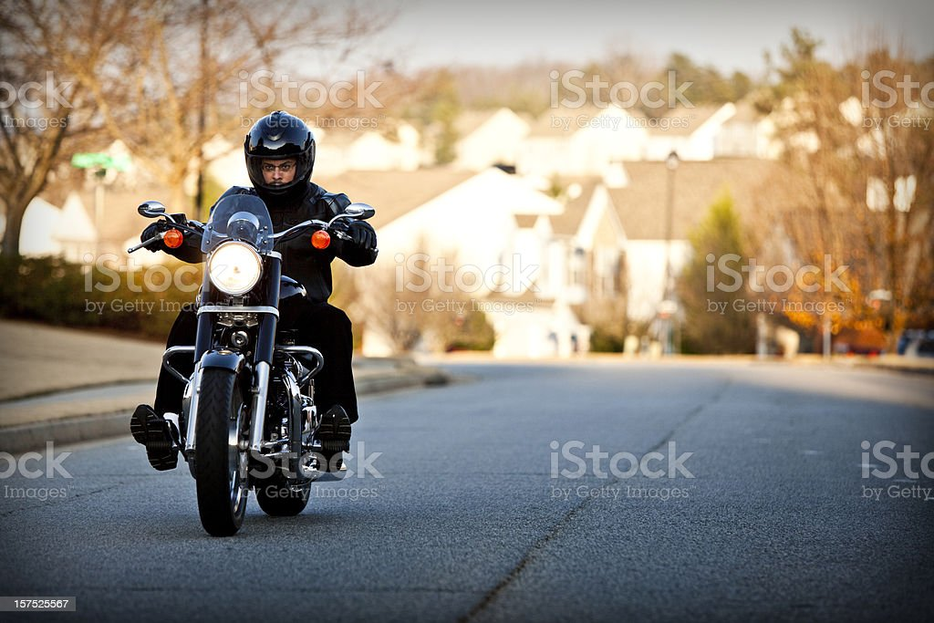 biker out for a ride stock photo