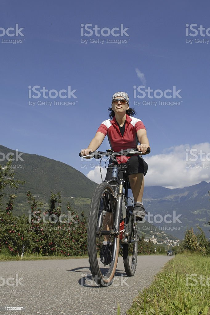 Biker royalty-free stock photo