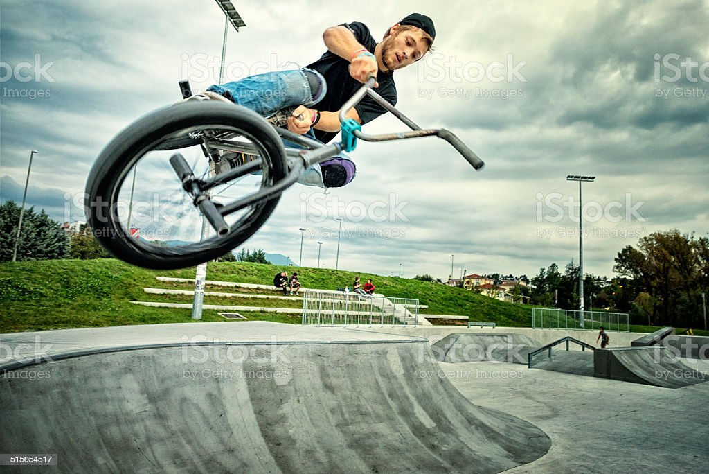 BMX biker stock photo