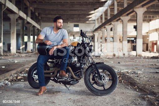 istock Biker 604367546